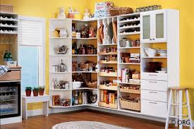 Kitchen Storages Ideas With Doors And Yellow Wall Decor