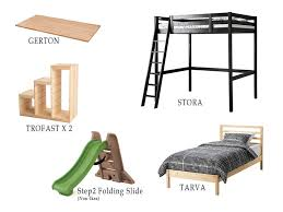 Loft Bed With Slide Ikea by Wowee Full Over Twin Bed With Stairs Slide And Secret Room