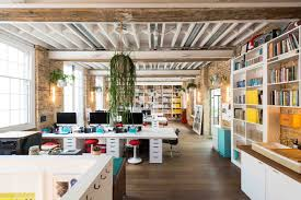Londons Creative Workspace With Contemporary Pendant Lights 2