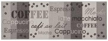 teppich läufer küche anthrazit coffee 80x200 cm