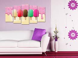 toile de cuisine tableau grand format déco cuisine glaces en 5 panneaux declina