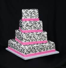 pink and black wedding cakes photo 1