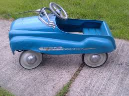 VINTAGE 1950's MURRAY CHAMPION PEDAL CAR DIP SIDE *GREAT CAR ...