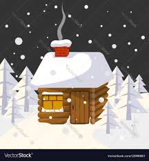 100 House In Forest Christmas Landscape With House In Forest Trees And