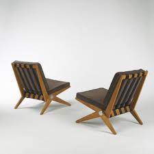 100 Modern Style Lounge Chair 408 PIERRE JEANNERET Scissor Lounge Chairs Model 92 Pair