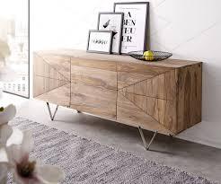 design sideboard wyatt 175 cm sheesham natur 2 türen 2 schübe