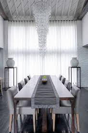 Dupioni Silk Curtains Dining Room Contemporary With High Ceilings And Drapes