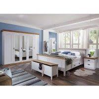 landhaus schlafzimmer sanctos in weiß kiefer massiv komplett