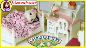 sylvanian families calico critters girls bedroom set unboxing