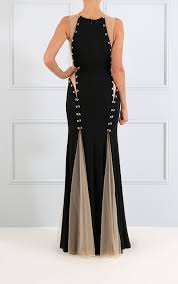 forever unique dresses womens tiffany black maxi dress with
