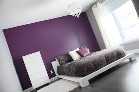 Purple And Grey Bedroom Ideas Option Is To Have Just One Wall Painted In