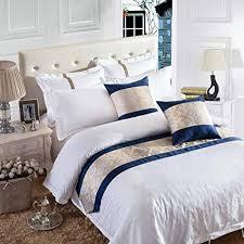 osvino bettläufer 1x stück karo mit fransen retro luxuriös atmungsaktiv bett deko bett überwurf für sofa schlafzimmer hotelzimmer blume 2 240x 50cm