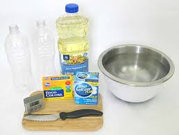 Photograph Of Materials Needed To Make A Homemade Alka Seltzer Powered Lava Lamp