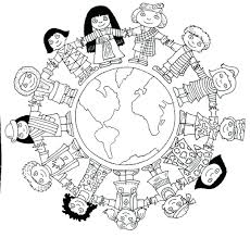 Childrens Coloring Pages For Christmas Alphabet Lent Children Around The World Page Full Size