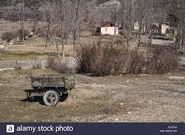An Old Farm Trailer And Rural Village Georgia Eurasia