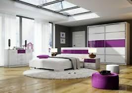 schlafzimmer set dubai kleiderschrank doppelbett nachttisch