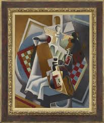 Picasso Still Life With Chair Caning Analysis by Juan Gris Still Life With Newspaper 1916 Artsy