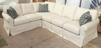 furniture pretty slipcovered sectional sofa for comfy your living