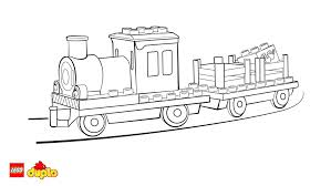 Lego Train Coloring Pages 6 LEGO DUPLO Page