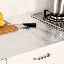 verdickt carbinet herd aufkleber wasserdichte schrank aluminiumfolie küche schublade matte öl beständig selbstklebende folie aufkleber