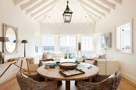 Coastal Living Room With Wicker Chairs