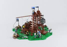 siege lego working lego trebuchet lays siege to your cities the brothers