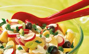 radieschen kartoffelsalat mit schafskäsedressing