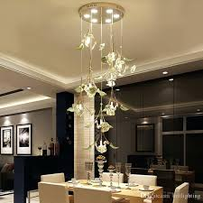 Crystal Pendant Light Ceramic Living Room Lamp Simple Modern Restaurant Spiral Lights Bedroom Creative Circular Mall Chandelier White Australia