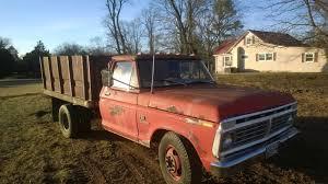 100 Ford F350 Dump Truck 1973 Dump Truck 1ton Grain Bed Dump Bed Disc PB PS