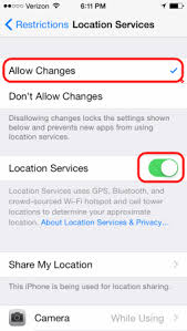 Can t Change Location Services Setting iPhone iPad or iPod Touch