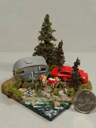 N-Scale Camp Site Diorama - Front View: | Miniatures | Pinterest ...