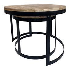 voglrieder couchtisch 2er set beistelltisch wohnzimmer tisch rund metall gestell altsilber o schwarz