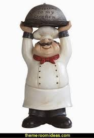 Fat Bistro Chef Welcome My Kitchen Poly Resin Figurine Statue Decoration