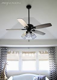 Hampton Bay Ceiling Fan Light Globe Removal by Caged Light Ceiling Fan Remove Glass Shades Add Cages And Switch