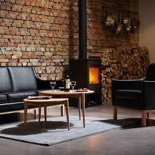 fdb møbler d102 søs couchtisch ø 55 cm eiche klar lackiert