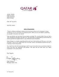 Letter of Appreciation 2013
