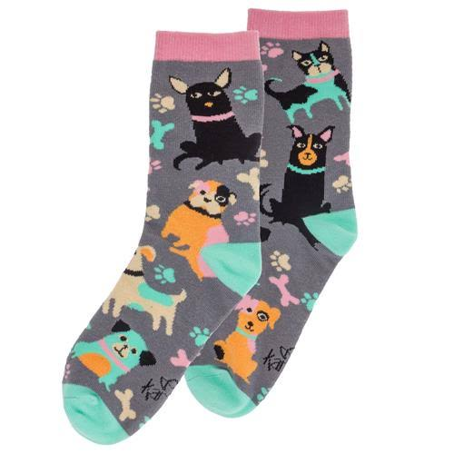 Karma Ladies Socks Dog