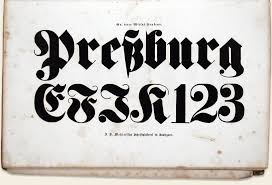 An 1840 specimen of a Fette Fraktur display weight from the J B