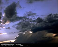 Sky Blue Black Clouds Dark