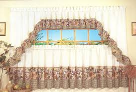 Tier Curtains 24 Inch by Tuscan Hills Kitchen Curtains Clearance
