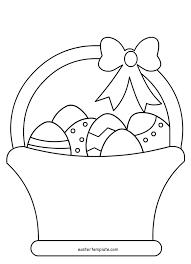 Easter Egg Basket Template Free 25