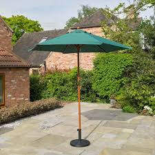 100 Wooden Parasol 24m Green Garden Furniture From Delta House And