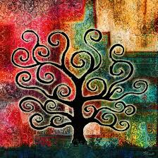 Abstract Art Gallery Tree Of Life Painting