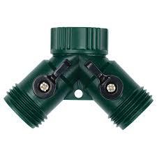 melnor metal connector 2 way garden hose parts