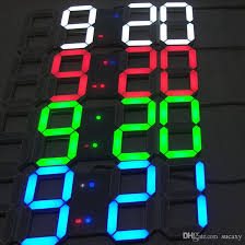 Creative Touch Buttons Key Control Large LED Digital Wall Clock Modern Design Home Decor 3D Decoration