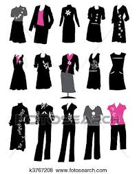 Clip Art Of Collection Womens Business Suits Office Style