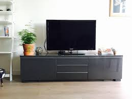 Besta Burs Desk 180cm by Tv Media Unit Stand Grey Gloss Finish With Drawers Ikea U0027besta