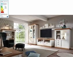 lomado landhaus wohnwand set 61 in pinie weiß wotan eiche nb inkl led b h t ca 386 204 52 cm