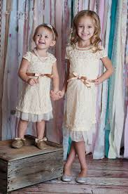 Champagne Lace Rustic Flower Girl Dress Country Chic Wedding For Baby Kids Clothes 5 Pieces Lot In Dresses From Mother
