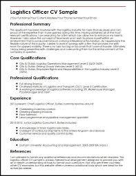 Resume Examples Logistics ResumeExamples